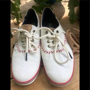Old-School Ball Stitched Style Keds Canvas Shoes